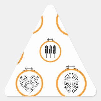 Sticker Triangulaire Cadres de broderie de tapisserie à l'aiguille