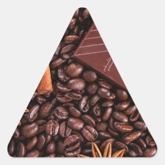 Sticker Triangulaire café