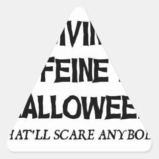 Sticker Triangulaire Caféine pour Halloween