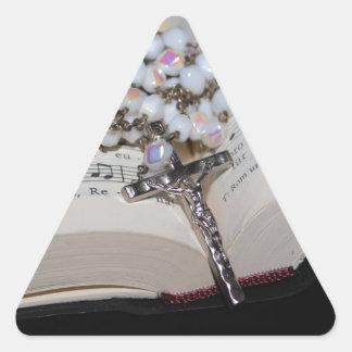 Sticker Triangulaire cahier de musique de chapelet