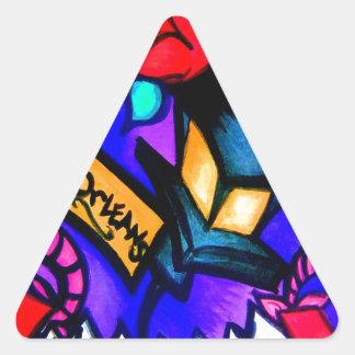 Sticker Triangulaire Cajun Flava