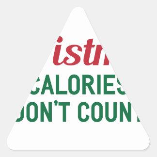 Sticker Triangulaire Calories de Noël