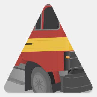 Sticker Triangulaire Camion de pompiers