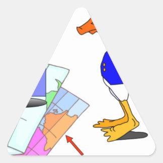 Sticker Triangulaire Canard dissonant