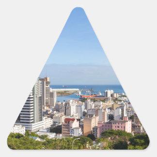 Sticker Triangulaire Capitale d'horizon de Port-Louis des Îles Maurice