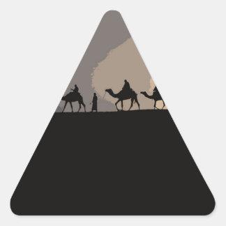 Sticker Triangulaire Caravane