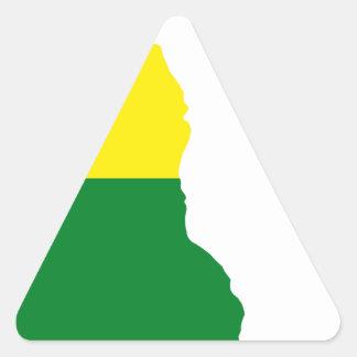Sticker Triangulaire Carte de drapeau du Delaware LGBT