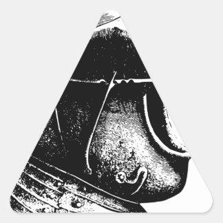 Sticker Triangulaire Casque de chevalier
