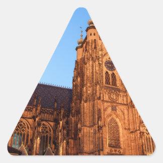 Sticker Triangulaire Cathedral in Prague