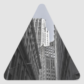 Sticker Triangulaire Centre Metropole de New York City de gratte-ciel
