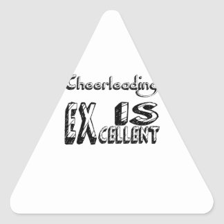 Sticker Triangulaire Cheerleading est excellent