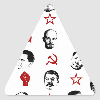 Sticker Triangulaire Chefs communistes