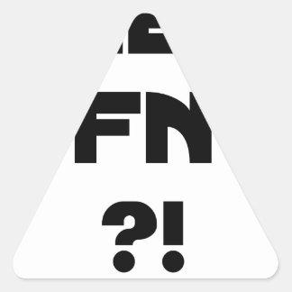 Sticker Triangulaire Chéri FN ?! - Jeux de Mots - Francois Ville