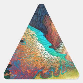 Sticker Triangulaire Cheval de vol
