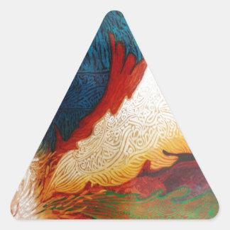 Sticker Triangulaire Cheval de vol 2