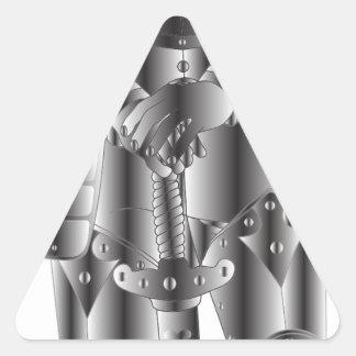 Sticker Triangulaire Chevalier en métal