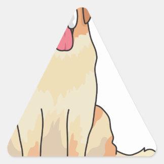Sticker Triangulaire Chien de St Bernard