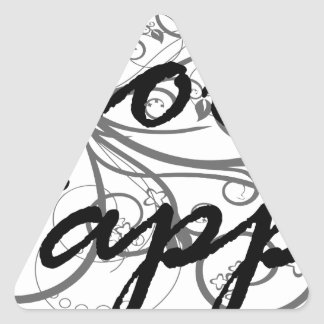 Sticker Triangulaire choisissez heureux