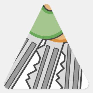 Sticker Triangulaire Clés