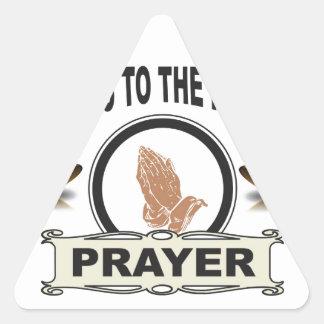 Sticker Triangulaire cloches de l'accès de prière