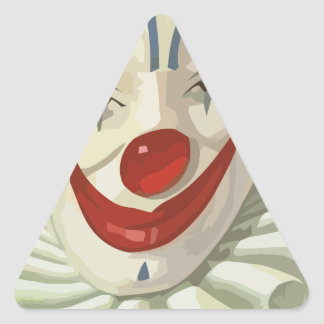Sticker Triangulaire clown effrayant