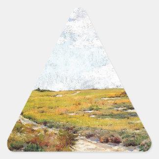 Sticker Triangulaire Collines ensoleillées de Shinnecock d'après-midi