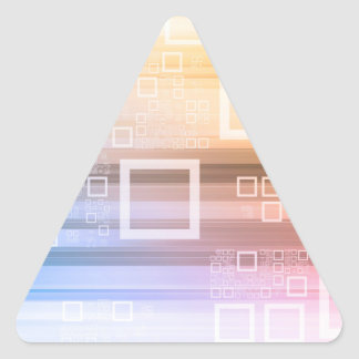 Sticker Triangulaire Concept du trafic de train de données de données