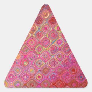 Sticker Triangulaire Conception abstraite rose de motif de remous