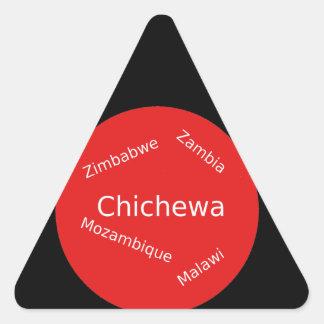 Sticker Triangulaire Conception de langue de Chichewa