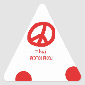 Sticker Triangulaire Conception de langue thaïlandaise et de symbole de