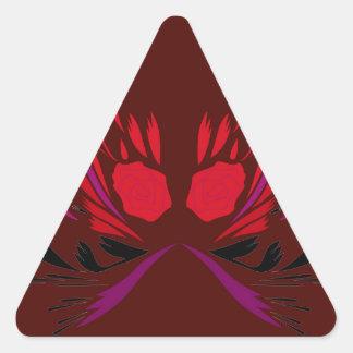 Sticker Triangulaire Conception de tatouage de henné de chocolat