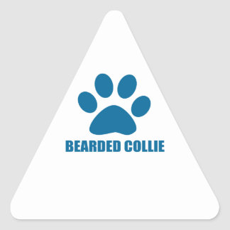 STICKER TRIANGULAIRE CONCEPTIONS BARBUES DE CHIEN DE COLLEY