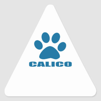 STICKER TRIANGULAIRE CONCEPTIONS DE CAT DE CALICOT