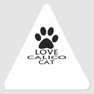STICKER TRIANGULAIRE CONCEPTIONS DE CAT DE CALICOT D'AMOUR