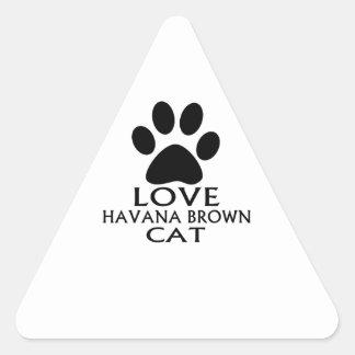 STICKER TRIANGULAIRE CONCEPTIONS DE CAT DE LA HAVANE BROWN D'AMOUR