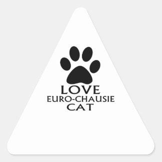STICKER TRIANGULAIRE CONCEPTIONS DE CAT DE L'AMOUR EURO-CHAUSIE