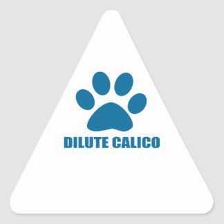 STICKER TRIANGULAIRE CONCEPTIONS DILUÉES DE CAT DE CALICOT