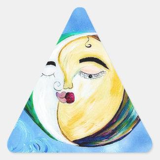 Sticker Triangulaire Connexion rêveuse d'amour