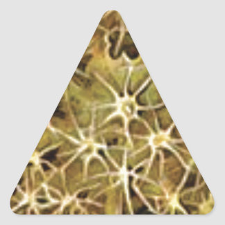 Sticker Triangulaire connexions de cerveau visualisées