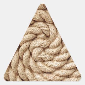 Sticker Triangulaire corde, marque ronde de conception de cercle de