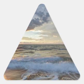 Sticker Triangulaire Coucher du soleil stupéfiant