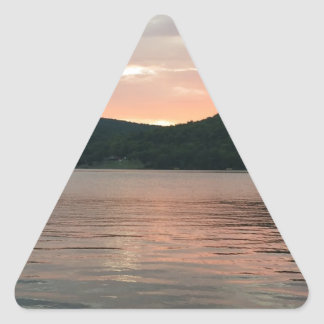 Sticker Triangulaire Coucher du soleil sur l'eau