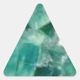 Sticker Triangulaire coupes d'émeraude