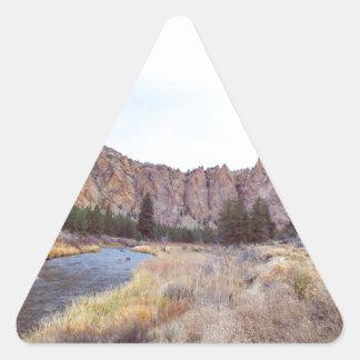Sticker Triangulaire Courbure Orégon de roche de Smith