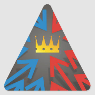 Sticker Triangulaire Couronne d'or