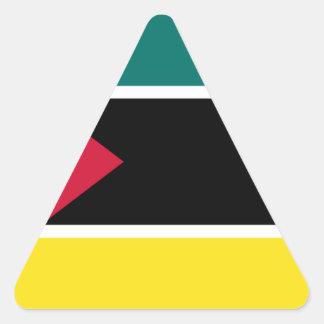 Sticker Triangulaire Coût bas ! Drapeau de la Mozambique
