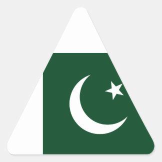 Sticker Triangulaire Coût bas ! Drapeau du Pakistan