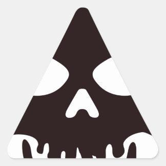 Sticker Triangulaire Crâne noir