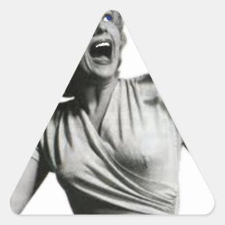 Sticker Triangulaire Criard de film d'horreur