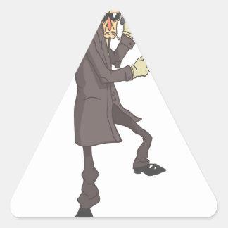 Sticker Triangulaire Criminel dangereux de tueur professionnel décrit